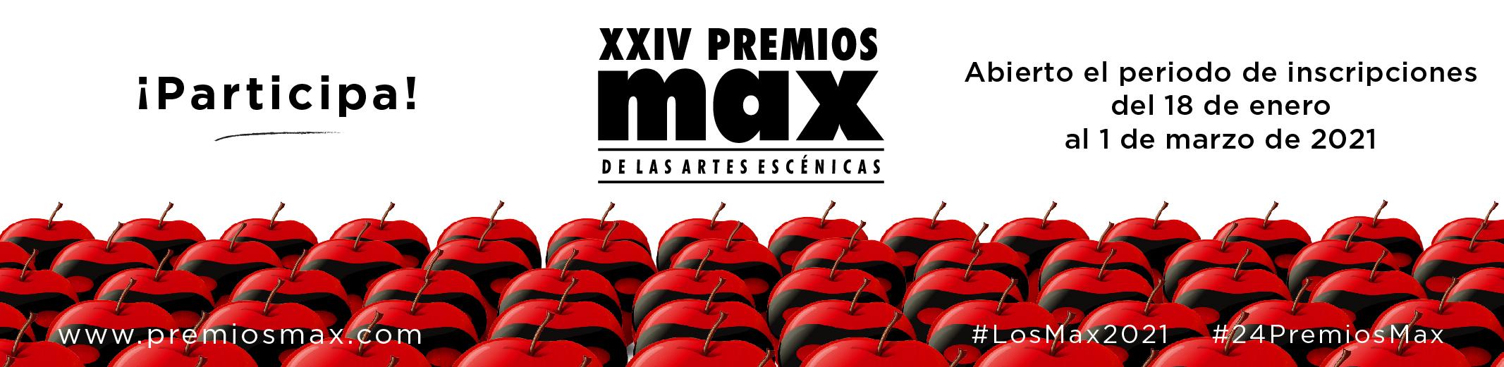 Premios Max 2021 Inscripción